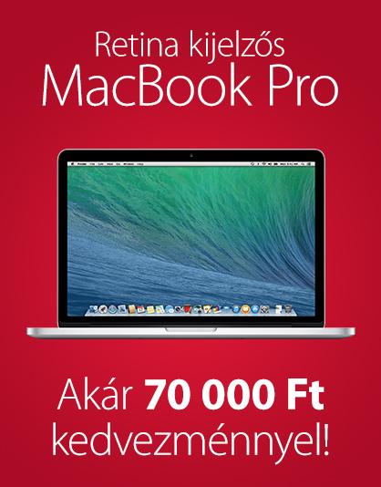 Retina kijelzős MacBook Pro akció